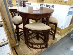 furniture inspiring round table with stools underneath