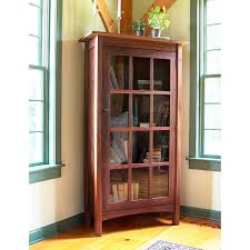 modern shaker glass door bookcase