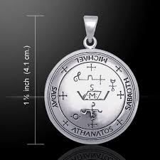 sigil of archangel michael 925 sterling silver pendant by peter stone jewelry