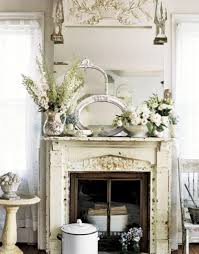 decorating with mirrors above a fireplace