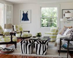 Zebra Rug Living Room Furniture Small Zebra Print Single Sofa On Grey Fluffy Fur Rug