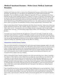 Medical Assistant Objective Statement Medical Assistant Resume Write Great Medical Assistant