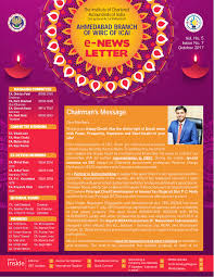 Official Month Designations Ahmedabad Icai News Letter Month Of October 2017 Pages 1