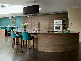 Striking, curved Island kitchen contemporary-kitchen