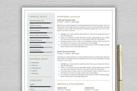 Modern Resume Design Beauteous Professional And Modern Resume Template For Word Creative Resume