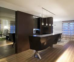 wet bar lighting. modern black home wet bar with pendant lighting and quartz counter