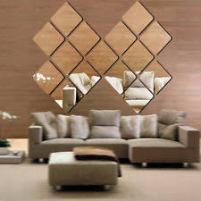 40pcs self adhesive mirror tiles kitchen wall sticker stick on 0 2 mm decor uk on mirror wall art uk with buy garden art wall decals stickers ebay