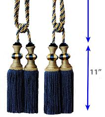 Designer Curtain Tie Backs One Pair Decorative Designers Extra Heavy Long Tie Back Backs D6 Curtains Drape Double Head Tassels Tapestry Wall Hanging