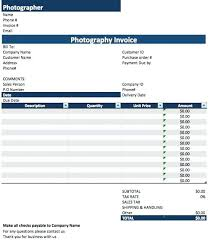 Excel Photography Price Quote Template Sample Jonathanbaker Co
