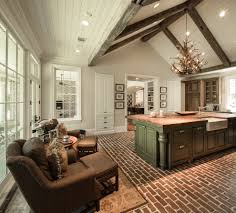 Rustic Kitchen Flooring Brick Floor Kitchen Kitchen With None Beeyoutifullifecom