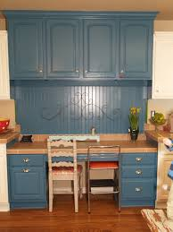 Paint Kitchen Cabinets Colors Blue Kitchen Brown Cabinets Quicuacom