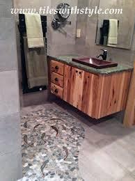 decorative ceramic tile trout hand