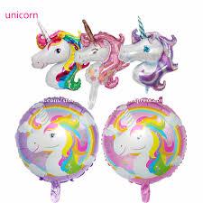 <b>1pcs</b> Big 118*90cm Rainbow <b>Unicorn Party</b> Supplies Foil Balloons ...