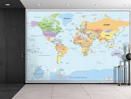 home office world. Amazon.com: Wall26 2016 Newest World Map - Large Wall Mural, Removable Wallpaper, Home Decor 66x96 Inches: \u0026 Kitchen Office