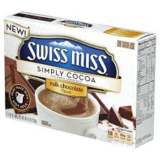 swiss miss simply cocoa milk chocolate hot cocoa mix 8 0 85 oz packages