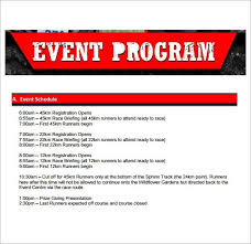Template For A Program For An Event 5 Event Program Template Printables Free Download