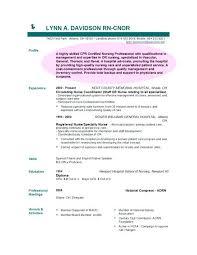 Resume For Nursing Registered Nurse Nice Resume Example Sample ...