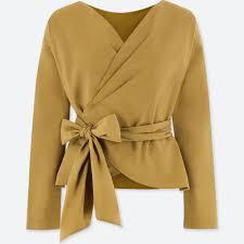 Women Extra Fine Cotton Cache Coeur Long Sleeve Blouse