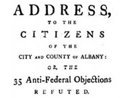 promoting the u s constitution ratification debate federalists  promoting the u s constitution ratification debate federalists vs anti federalists francis hopkinson the new roof albany federalist pamphlet