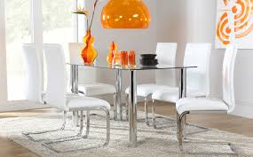 round glass dining table chrome legs. nova square glass \u0026 chrome dining table and 4 dsr chairs set (helix white) only £329.99 | furniture choice apartment pinterest sets, round legs o