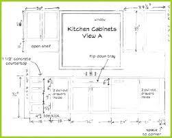 Standard Kitchen Cabinet Sizes Depth Dimensions Chart