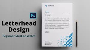 How To Letter Head Letterhead Letterhead Design Photoshop Bangla Tutorial How