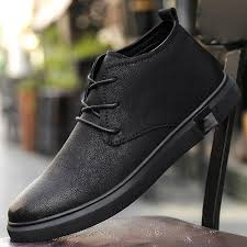 ankle boots for men business chukka mens boots high top casual shoes outdoor leather mens winter shoes male walker peak shoes suede boots from