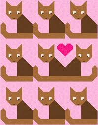 Cats Meow Quilt Pattern PDF Instant Download animal pet & Cats Meow Quilt Pattern, PDF, Instant Download, animal, pet, cat, baby,  love, heart, modern patchwork, brown, green, grey, blue, pink Adamdwight.com