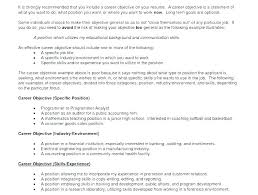 Great Career Objectives For Resumes Impressive Resume Objective Statement Examples For Warehouse Worker Job