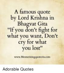 Lord Krishna Quotes Fascinating A Famous Quote By Lord Krishna In Bhagwat Gita If You Don't Fight