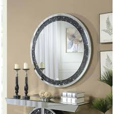 crystal wall mirror best quality furniture round black trim crystal wall mirror crystal wall mirrors uk