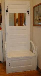 front hall bench from old door white door bench trash to