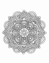 Small Picture Mandala Coloring Page Mehndi Henna Printable PDF by Katie N