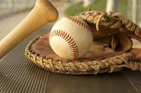 Bate, guante y pelota béisbol
