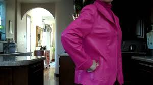 pink doncaster leather jacket