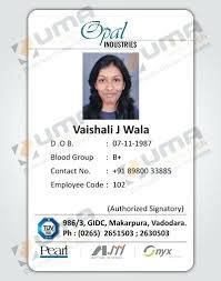 Business Id Card Template Employee Design Badge Free Jaxos Co