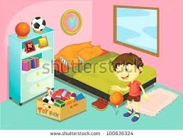 clean bedroom clipart. Unique Clipart Kids Clean Room Clipart Bedroom Illustration Of A Boy In His  Vector Format   With Clean Bedroom Clipart