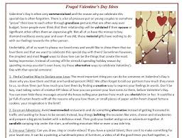 Frugal Valentine's Day Ideas - Reading Comprehension (text ...