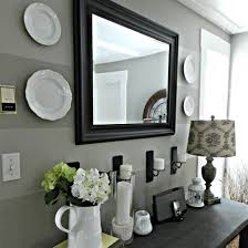 entryway furniture with mirror. black framed mirror for home entry decoration foyer table at entryway furniture with l