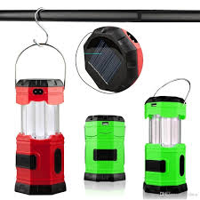 ultra bright waterproof portable outdoor camping lantern 180 lumens solar lamp rechargeable emergency tent light with usb hook flashlight solar lights
