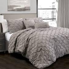 lush decor ravello pintuck 5 pc comforter set