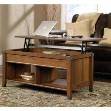 sauder beginnings side table coffee lift top imposing for size x cinnamon cherry finish