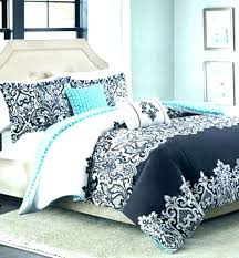 damask comforter queen set bedding black and white 5 piece twin xl