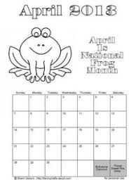 Small Picture April 2015 Coloring Calendar Coloring PageColoringPrintable