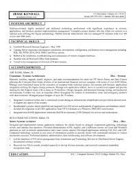 Gallery Of Example Project Architect Resume Resume Cover Letter