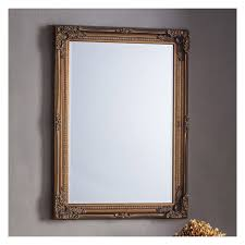 antique gold framed wall mirror 108 x 78cm