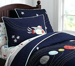 space bedding set space quilt pottery barn kids space themed crib bedding set