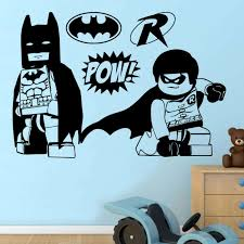batman and robin lego heroes wall sticker transfer decal sizes available web image gallery batman wall