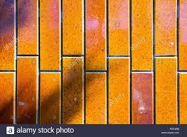 Ein Blick Auf Porzellan Keramische Fliesen In Farbe Orange