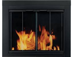 pleasant hearth ascot fireplace glass door